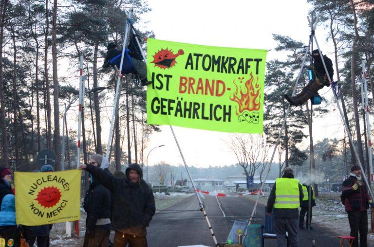 Aktion vor der Brennelementefabrik in Lingen, Januar 2019