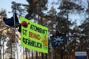 Aktion gegen die Brennelementefabrik in Lingen, Januar 2019