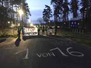 Brennelementefabrik Linge, die Blockade vorm Prozess